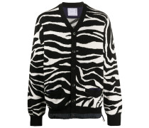 Cardigan mit Zebra-Print