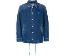 striped back denim jacket