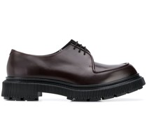 ridged sole lace-up shoes