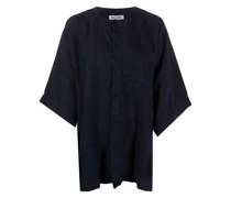 Kragenloses Oversized-Hemd