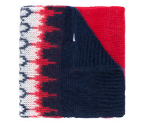 embroidered knitted scarf