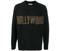 Hollywood intarsia rib-trimmed jumper
