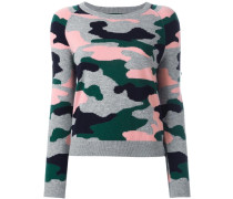 - Intarsien-Pullover mit Camouflagemuster - women
