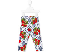strawberry print trousers
