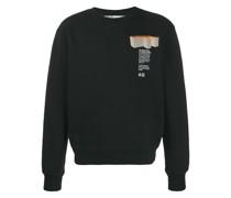 Sweatshirt mit Gebäude-Print