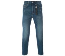 "Schmale Jeans mit ""Peace""-Patch"