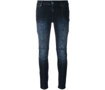Skinny-Jeans mit gerippten Details