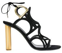Gancio flower heel sandals