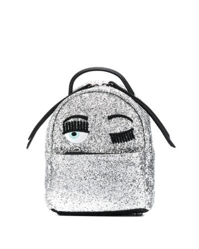 'Zaino' Rucksack im Glitter-Look