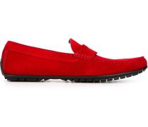 - Wildleder-Loafer mit Logo-Schild - men