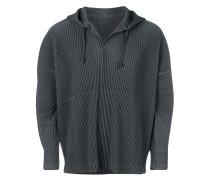 pleated hoodie