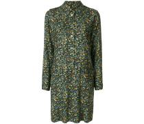 A.P.C. Kleid mit floralen Knöpfen