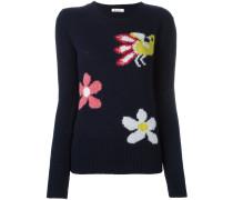 Pullover mit Blumenmotiven