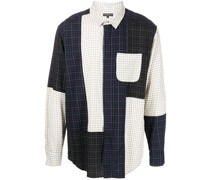 Combo colour-block cotton shirt