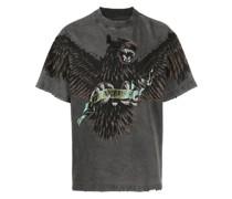Terrier T-Shirt mit Adler-Print