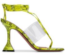 'Zula' Sandalen mit Schlangen-Effekt