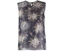 Leichte Bluse mit Sonnen-Print