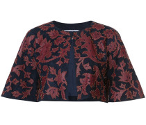 cropped jacket with print