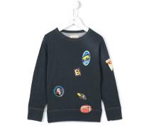 Sweatshirt mit Patch-Print