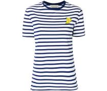 Gestreiftes T-Shirt mit Bananen-Patch
