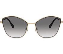 Sonnenbrille mit kantigen Gläsern