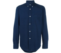 Jeanshemd mit Button-down-Kragen