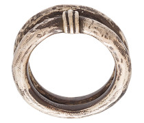 antique-effect double ring