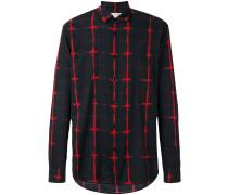 Hemd mit Gittermuster - men - Baumwolle - 38