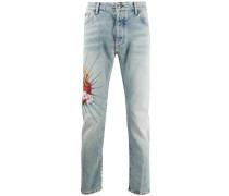 "Jeans mit ""Sacred Heart""-Print"