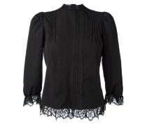 Bluse mit plissiertem Latzeinsatz - women