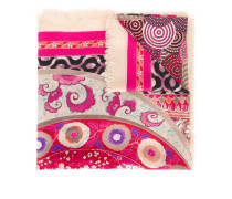 mix print scarf