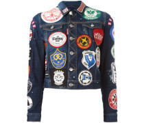 Jeansjacke mit Patches - women