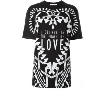 """T-Shirt mit """"I Believe in the Power of Love""""-Print"""