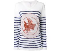 Gestreifter Pullover - women - Leinen/Flachs - S