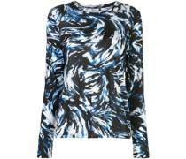 Langarmshirt mit Feder-Print
