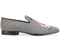 koi print check slippers