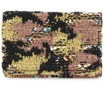 Tweed-Kartenetui mit Camouflage-Muster