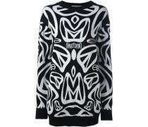Intarsien-Pullover mit Print