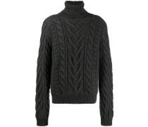 Intarsien-Pullover mit Punkten