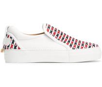 Slip-On-Sneakers mit überkreuzten Details