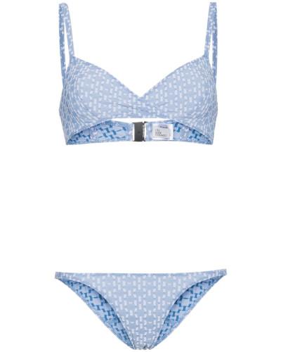 'Yasmin' Seersucker-Triangel-Bikini