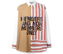 'Member and Non Members Only' Hemd