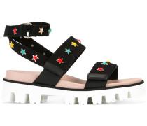 Sandalen mit Stern-Applikationen