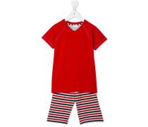 Pyjama mit gestreifter Hose