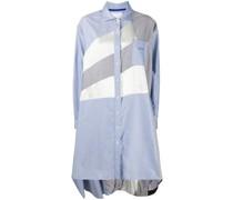 Hemdkleid mit Kontrasteinsätzen