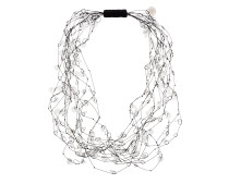 crystal beaded layered necklace