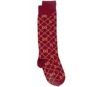 Intarsien-Socken mit GG