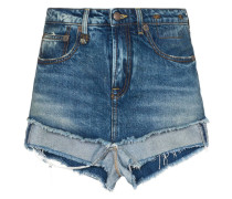 Jeans-Shorts im Layering-Look