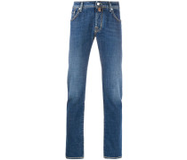 Gerade Jeans mit tiefem Sitz