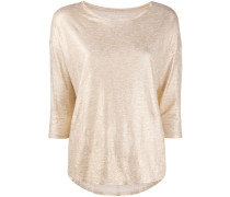 Top mit Metallic-Effekt